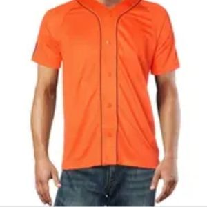 NWT Adidas Mesh Baseball Orange Jersey Shirt